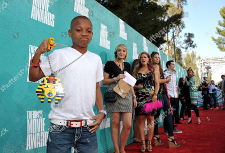 Stock Image of Lil Niqo arrives at the 2012 MTV Movie Awards on in Los Angeles