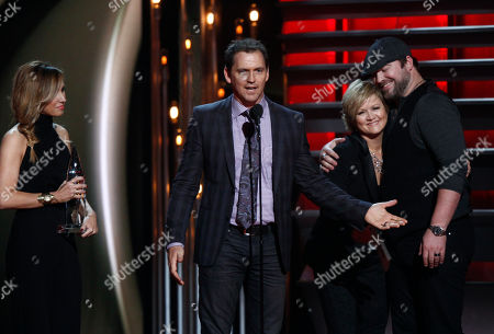 "Jimmy Yeary accept the award for song of the year for ""I Drive Your Truck"" at the 47th annual CMA Awards at Bridgestone Arena, in Nashville, Tenn"