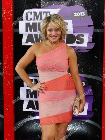 Gwen Sebastian arrives at the 2013 CMT Music Awards at Bridgestone Arena, in Nashville, Tenn
