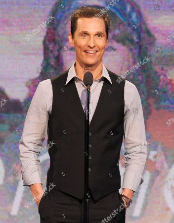 """Actor Matthew McConaughey speaks onstage at the Independent Spirit Awards, in Santa Monica, Calif. McConaughey won the award for best supporting actor for his role in """"Magic Mike"""