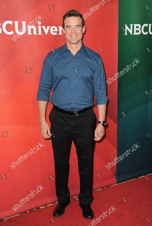 """Eddie McClintock of Syfy's """"Warehouse 13"""" arrives at the 2013 NBCUniversal Summer Press Day at The Langham Huntington Hotel and Spa on in Pasadena, Calif"""