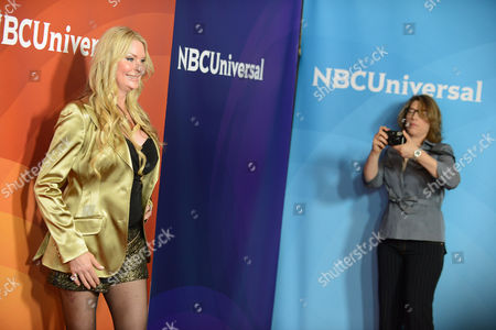 """Jackie Siegel, left, and Lauren Greenfield of Bravo's """"The Queen of Versailles"""" arrive at the 2013 NBCUniversal Summer Press Day at The Langham Huntington Hotel and Spa on in Pasadena, Calif"""