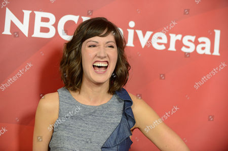 """Stock Image of Kelly Vrooman of """"The Chica Show"""" arrives at the 2013 NBCUniversal Summer Press Day at The Langham Huntington Hotel and Spa on in Pasadena, Calif"""