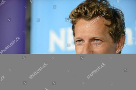 """Magnus Scheving of Sprout's """"Lazy Town"""" arrives at the 2013 NBCUniversal Summer Press Day at The Langham Huntington Hotel and Spa on in Pasadena, Calif"""