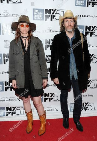 """Musicians Gillian Welch and David Rawlings attend the premiere of """"Inside Llewyn Davis"""" during the 51st New York Film Festival on in New York"""