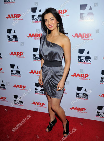 Stock Photo of Actress Jane Park Smith arrives at the 2014 AARP's Movies for Grownups Gala, on Monday, Feb. 10th, 2014 in Beverly Hills, Calif