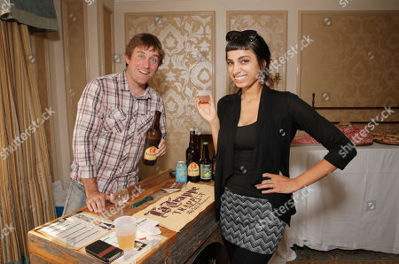 Craft Brand's Chris Goddard and Alysha Brilla attend the 2014 Bask-It-Style Media Day, on Wednesday, September 3th, 2014 in Toronto, Canada