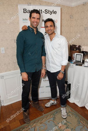 Benjamin Ayres and Huse Madhavji attend the 2014 Bask-It-Style Media Day, on Wednesday, September 3th, 2014 in Toronto, Canada