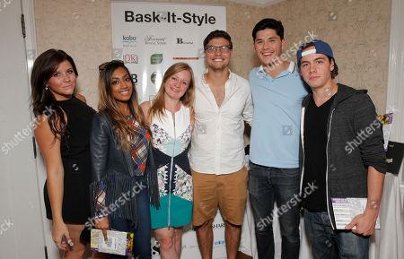The cast of Degrassi Jessica Tyler, Melinda Shanka, Luke Bilyk, Ricardo Hoyos and Munro Chambers and Jessica Glover attend the 2014 Bask-It-Style Media Day, on Wednesday, September 3th, 2014 in Toronto, Canada