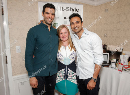 Stock Image of Benjamin Ayres, Jessica Glover and Huse Madhavji attend the 2014 Bask-It-Style Media Day, on Wednesday, September 3th, 2014 in Toronto, Canada