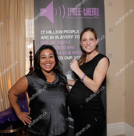 Sheila Cardenas of FreeThem and Tara Spencer-Nairn attends the 2014 Bask-It-Style Media Day, on Wednesday, September 3th, 2014 in Toronto, Canada