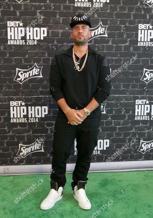 DJ Drama was seen arriving at the 2014 BET Hip Hop Awards held at the Atlanta Civic Center, in Atlanta, Ga