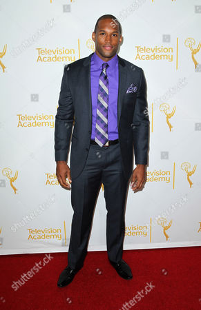 Lawrence Saint-Victor arrives at the 2014 Daytime Emmy Nominee Reception presented by the Television Academy at The London West Hollywood on