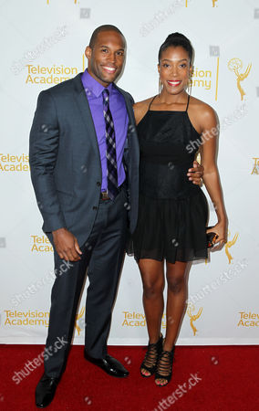 Lawrence Saint-Victor, left, and Shay Saint-Victor arrive at the 2014 Daytime Emmy Nominee Reception presented by the Television Academy at The London West Hollywood on