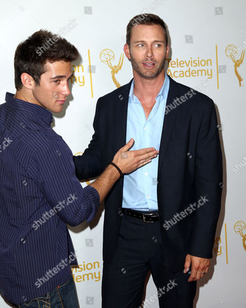 Casey Moss, left, and Eric Martsolf arrive at the 2014 Daytime Emmy Nominee Reception presented by the Television Academy at The London West Hollywood on