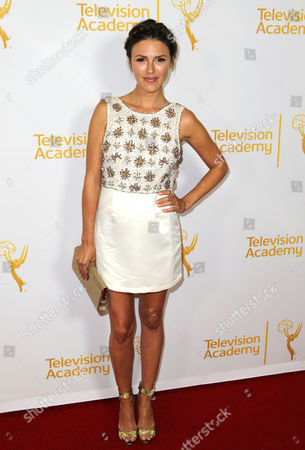 IMAGE DISTRIBUTED FOR THE TELEVISION ACADEMY - Elizabeth Hendrickson arrives at the 2014 Daytime Emmy Nominee Reception presented by the Television Academy at The London West Hollywood on