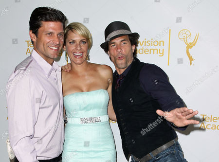 Greg Vaughan, and from left, Arianne Zucker and Shawn Christian arrive at the 2014 Daytime Emmy Nominee Reception presented by the Television Academy at The London West Hollywood on