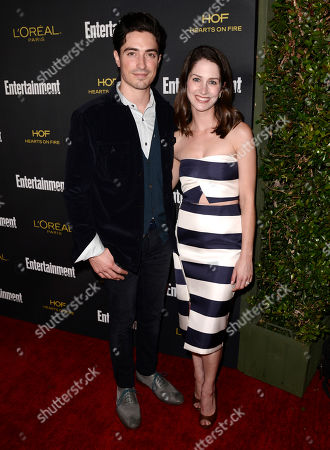 Ben Feldman, left, and Michelle Mulitz arrives at Entertainment Weekly's Pre-Emmy Party sponsored by L'Oreal Paris and Hearts On Fire at Fig & Olive in West Hollywood, Calif. on