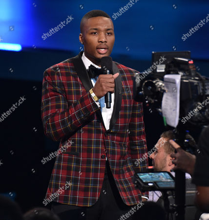Damian Lillard performs at the ESPY Awards at the Nokia Theatre, in Los Angeles