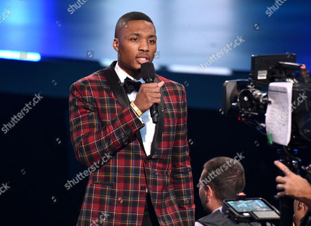 Damian Lillard performs on stage at the ESPY Awards at the Nokia Theatre, in Los Angeles