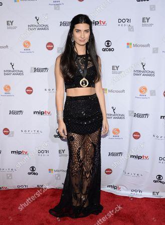 Actress Tuba Buyukustun attends the International Emmy Awards gala at the New York Hilton, in New York
