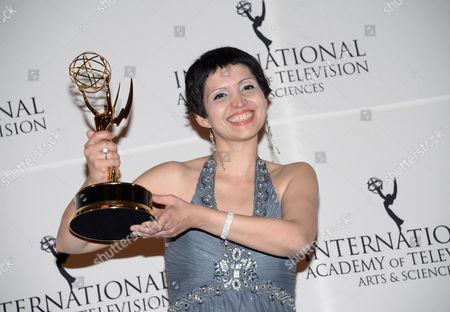 Editorial image of 2014 International Emmy Awards Gala - Press Room, New York, USA