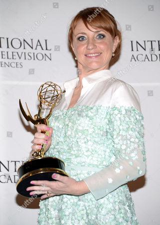 Editorial picture of 2014 International Emmy Awards Gala - Press Room, New York, USA
