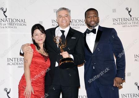 Editorial photo of 2014 International Emmy Awards Gala - Press Room, New York, USA