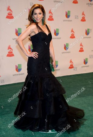 Lourdes Stephen arrives at the 15th annual Latin Grammy Awards at the MGM Grand Garden Arena, in Las Vegas