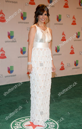 Giselle Blondet arrives at the 15th annual Latin Grammy Awards at the MGM Grand Garden Arena, in Las Vegas