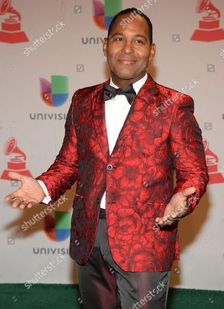 Tony Dandrades arrives at the 15th annual Latin Grammy Awards at the MGM Grand Garden Arena, in Las Vegas