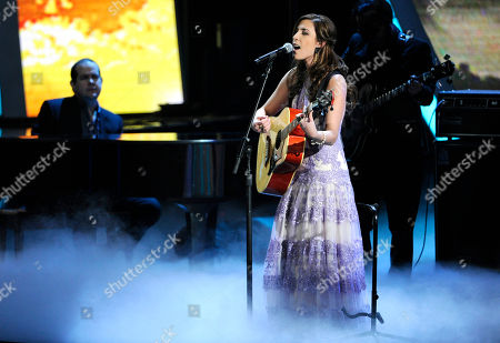 Mariana Vega performs at the 15th annual Latin Grammy Awards at the MGM Grand Garden Arena, in Las Vegas