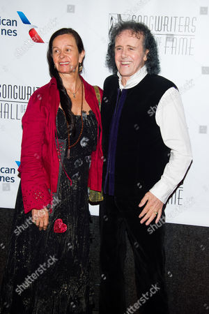 Stock Image of Donovan and Linda Lawrence attend the Songwriters Hall of Fame Awards on in New York
