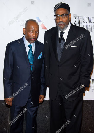 Leon Huff, left, and Kenneth Gamble attend the Songwriters Hall of Fame Awards on in New York