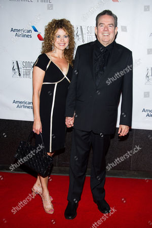 Jimmy Webb and Laura Savini attend the Songwriters Hall of Fame Awards on in New York