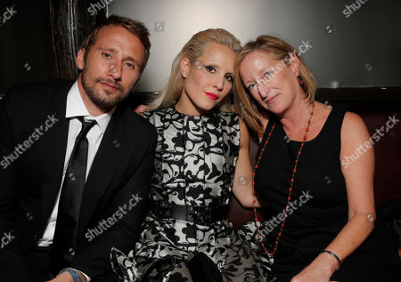 Matthias Schoenaerts, Noomi Rapace and Fox Searchlight's President of Production Claudia Lewis attend the after party for the premiere of Fox Serachlight's 'The Drop' during the 2014 Toronto International Film Festival at Princess of Wales Theatre on in Toronto, Canada