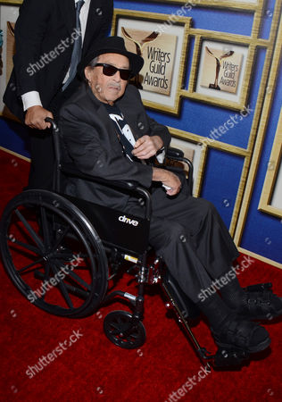 Stock Image of Paul Mazursky arrives at the Writers Guild Awards,, in Los Angeles