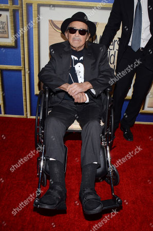 Paul Mazursky arrives at the Writers Guild Awards,, in Los Angeles