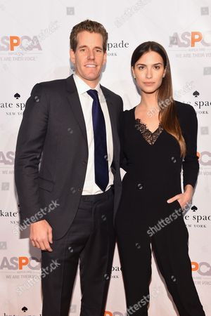 Internet entrepreneur Cameron Winklevoss, left, and model Natalia Beber attend the ASPCA Young Friends Benefit at the IAC Building, in New York