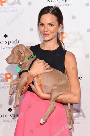 Model Allie Rizzo attends the ASPCA Young Friends Benefit at the IAC Building, in New York