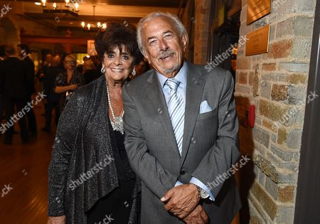 Fay Mancuso, left, and Frank Mancuso attend Backstage at the Geffen, in Los Angeles