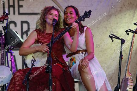 Abigail Washburn with special guest Rhiannon Giddens performs at the 2015 Bonnaroo Music and Arts Festival, in Manchester, Tennessee