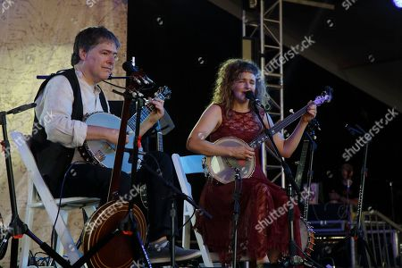 Bela Fleck and Abigail Washburn performs at the 2015 Bonnaroo Music and Arts Festival, in Manchester, Tennessee