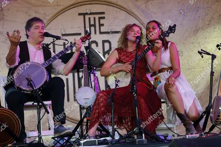 Bela Fleck and Abigail Washburn with special guest Rhiannon Giddens performs at the 2015 Bonnaroo Music and Arts Festival, in Manchester, Tennessee
