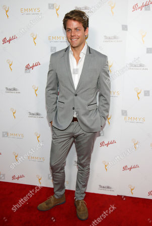 Stock Image of Lachlan Buchanan seen at the Television Academy's 67th Emmy Daytime Peer Group Celebration at the Montage Beverly Hills on in Beverly Hills, Calif