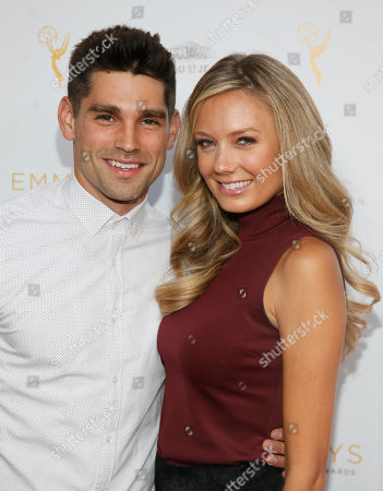 Justin Gaston, left and Melissa Ordway seen at the Television Academy's 67th Emmy Daytime Peer Group Celebration at the Montage Beverly Hills on in Beverly Hills, Calif