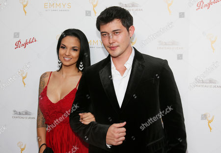 Laneya Arbiz, left, and Christopher Sean seen at the Television Academy's 67th Emmy Daytime Peer Group Celebration at the Montage Beverly Hills on in Beverly Hills, Calif