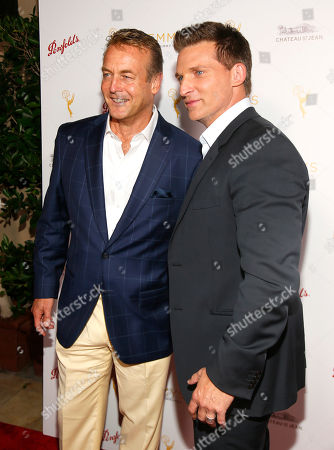 Doug Davidson, left, and Steve Burton seen at the Television Academy's 67th Emmy Daytime Peer Group Celebration at the Montage Beverly Hills on in Beverly Hills, Calif