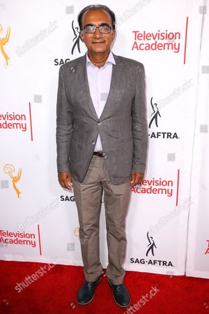 Iqbal Theba arrives at the 2015 Dynamic and Diverse Emmy Celebration at the Montage Hotel, in Beverly Hills, Calif
