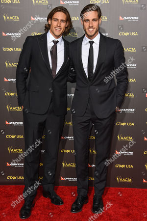 Zac Stenmark, left and Jordan Stenmark attend the 2015 G'DAY USA GALA at the Hollywood Palladium, in Los Angeles
